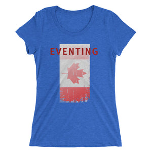 Eventing - Canada Flag - Ladies' short sleeve t-shirt - Form fitting