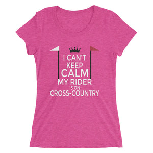 Rider on cross-country - Ladies' short sleeve t-shirt - Fitting