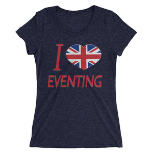 I love UK Eventing - Ladies' short sleeve t-shirt - Form fitting