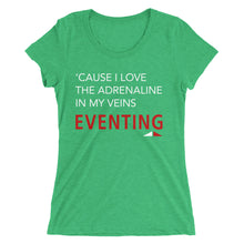Love Adrenaline - White Type - Ladies' short sleeve t-shirt - Form fitting