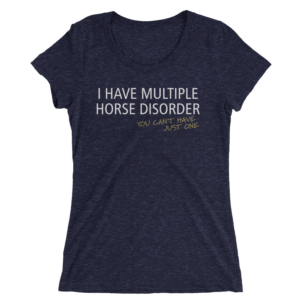 Multiple Horse Disorder - Ladies' short sleeve t-shirt - Form fitting