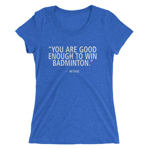 Win Badminton-Wine - Ladies' short sleeve t-shirt - Form fitting