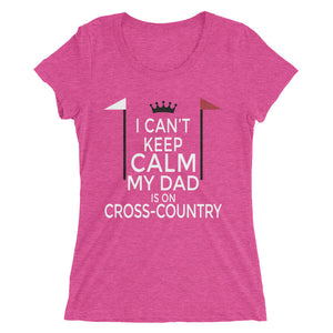 Dad on cross-country - Ladies' short sleeve t-shirt - Form fitting
