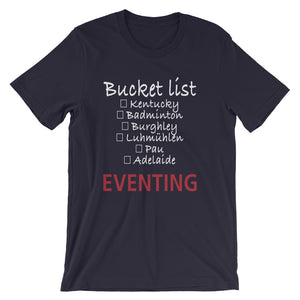 Bucket list (White type) - Unisex short sleeve t-shirt - Relaxed fit