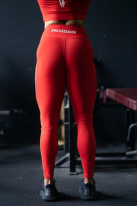 Progression V-Shaped Leggings Red