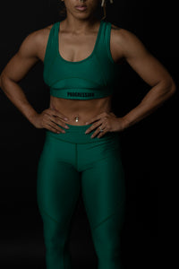 Progression Leggings Emerald Green