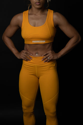 Golden Yellow Sports Bra