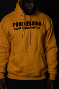 Progression Crop Hoodie Golden Yellow