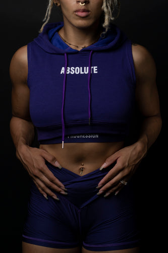 Absolute Sleeveless Crop Royal Purple