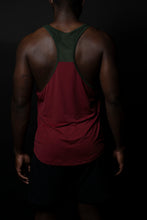 Olive/Burgundy Two-Toned Performance tank