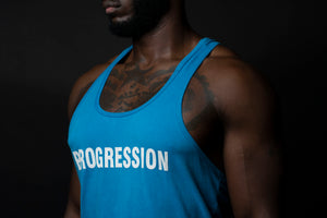 Sky Blue/White Progression Tank Top