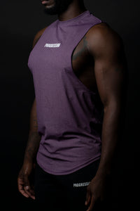 Purple Deep Drop Cut Progression Tank Top