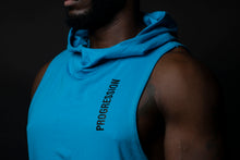 Caribbean Blue Drop Tail Muscle Hoodie