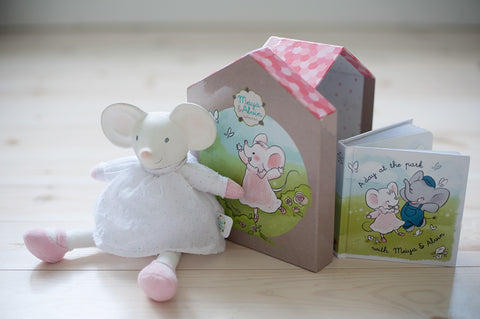 Meiya & Alvin - Rubber Meiya the Mouse With Book Gift Box