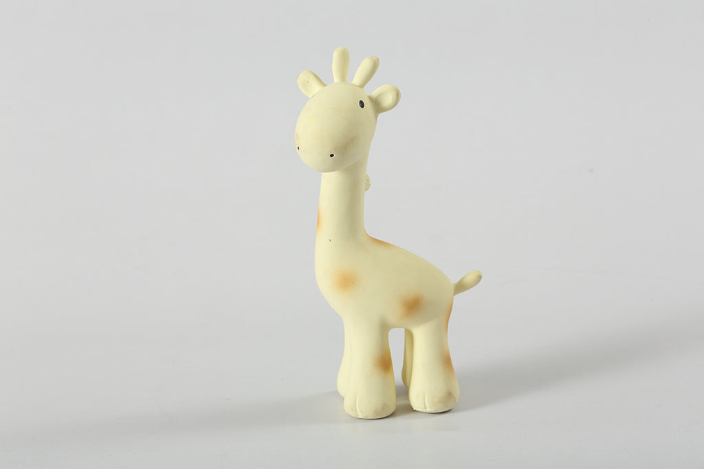 Tikiri - Giraffe Natural Rubber Baby Rattle and Teething Toy-the little haven