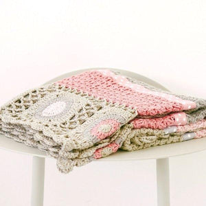 And The Little Dog Laughed - Dusty Pink Hand Crochet Blanket-the little haven