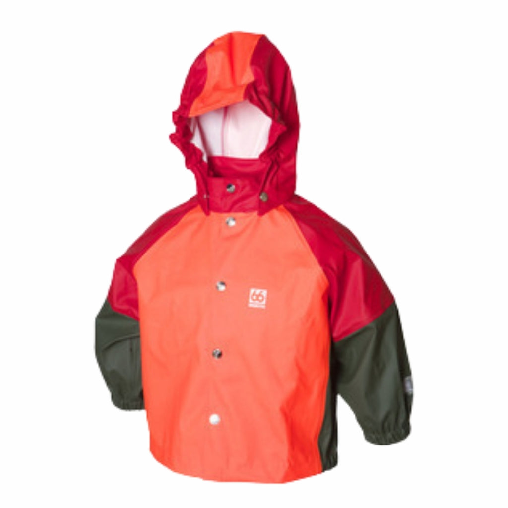 Freyja Rain Jacket - Bright Orange Mixed - 66 North-the little haven