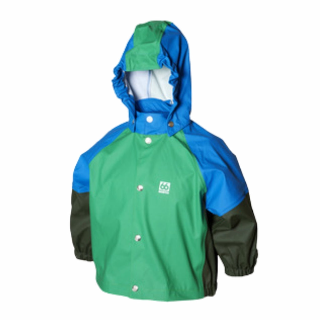 Freyja Rain Jacket - Leaf Green Mixed - 66 North-the little haven
