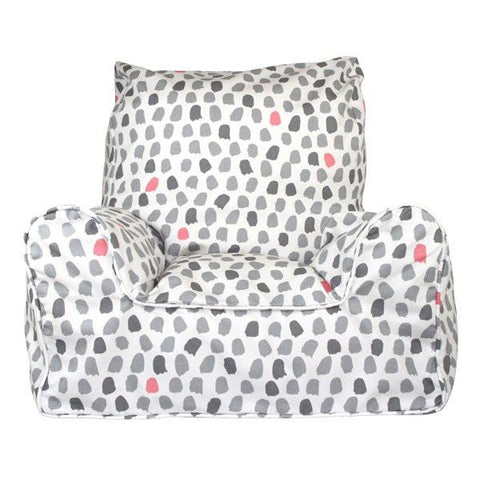 Paint Splotches Grey and Pink Bean Chair-the little haven