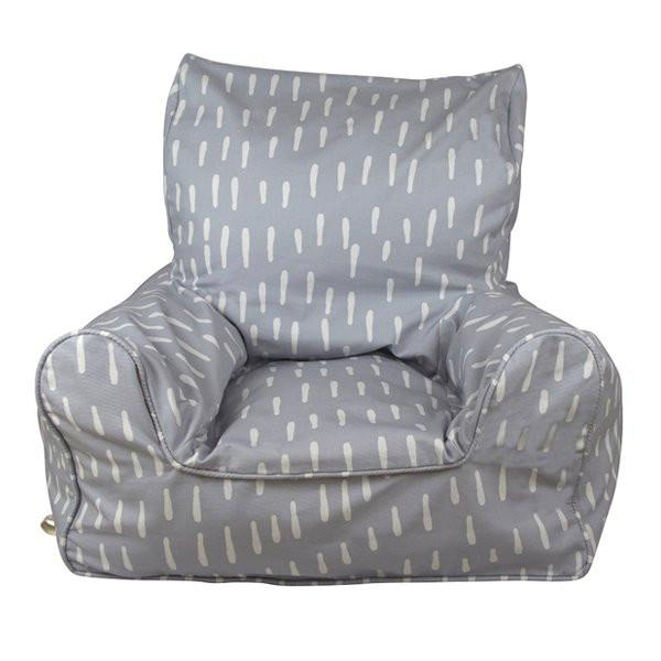 Raindrops Grey Bean Chair-the little haven