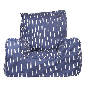 Raindrops Indigo Bean Chair-the little haven