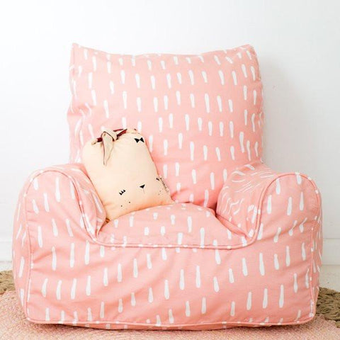 Raindrops Pink Bean Chair-the little haven