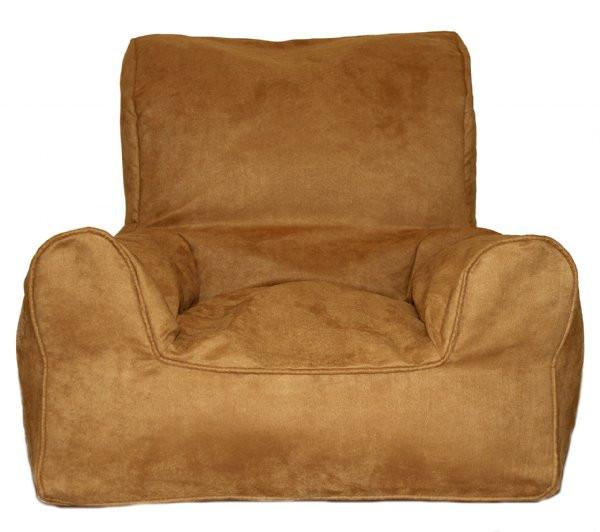 Suede Hazelnut Bean Chair-the little haven