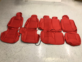 Synthetic Leather Seat Covers for 2016-2020 Toyota Tacoma Double Cab Red/Red Diamond