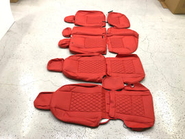 Synthetic Leather Seat Covers for 2016-2020 Toyota Tacoma Double Cab Red/Black Diamond
