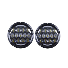 1997-2017 Jeep Wrangler Honey Nest 7'' 105W Round LED Headlight Light Lamp Pair2