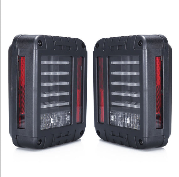 2x Clear LED Reverse Rear Brake Tail Lights Lamps for Jeep Wrangler JK 07-16