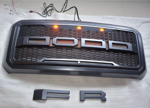 For 11 16 Ford F250 350 450 550 Super Duty Front Grill Vertical Silver Grille
