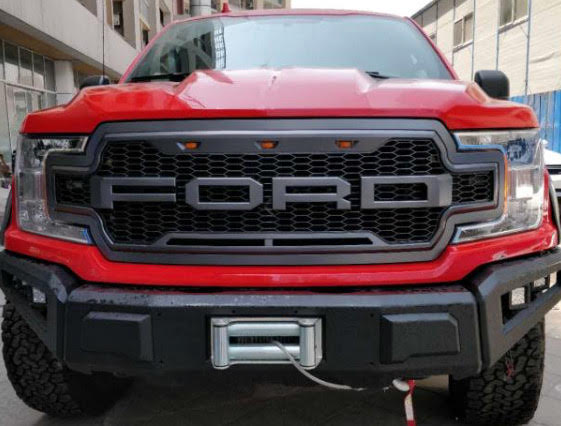 Honeycomb Raptor Style Front Grille Grill Ford F150 2018