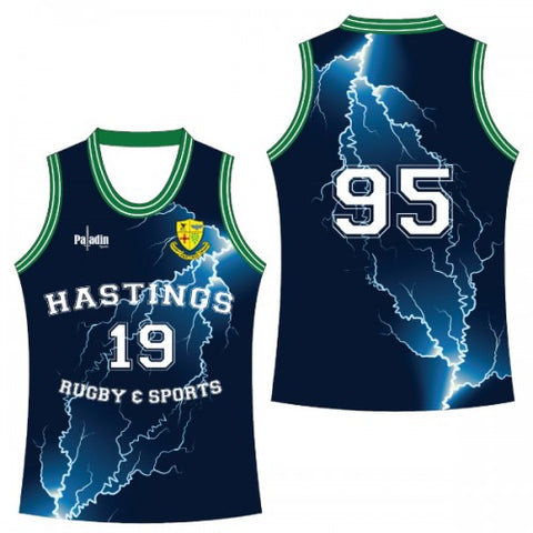HASTINGS RUGBY & SPORTS - BASKETBALL SINGLET