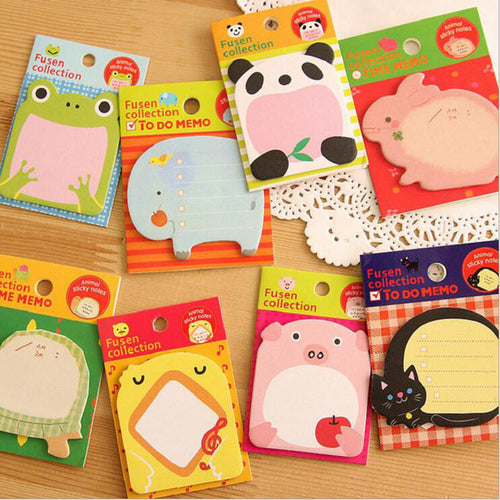 Animal Crazy Sticky Memo Pad