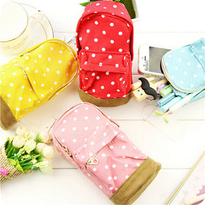 Polka Dot Bookbag Pencil Case