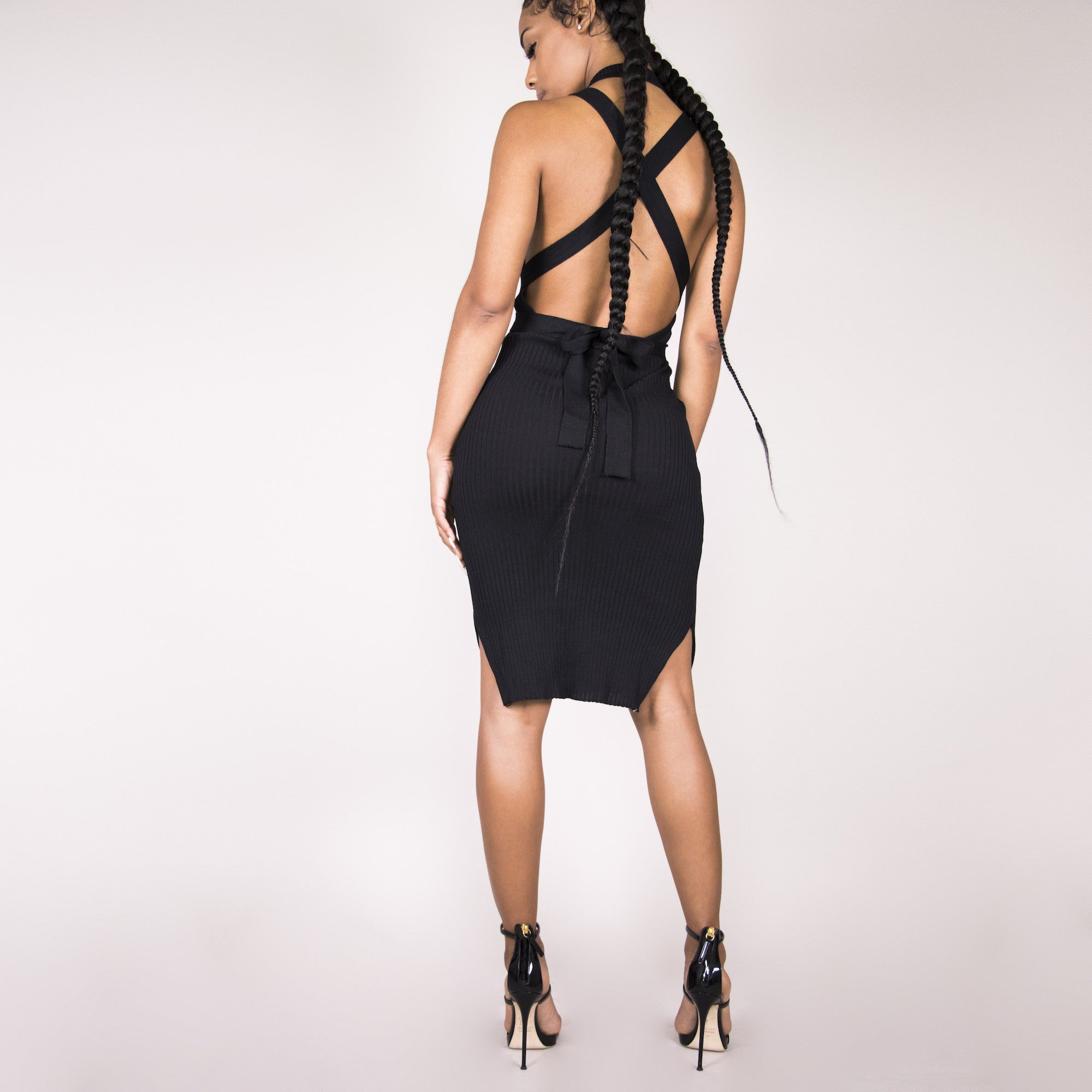 Brittany Bandage Dress - Black | Raregal