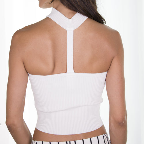 Monica Crop Top- Ivory - RareGal