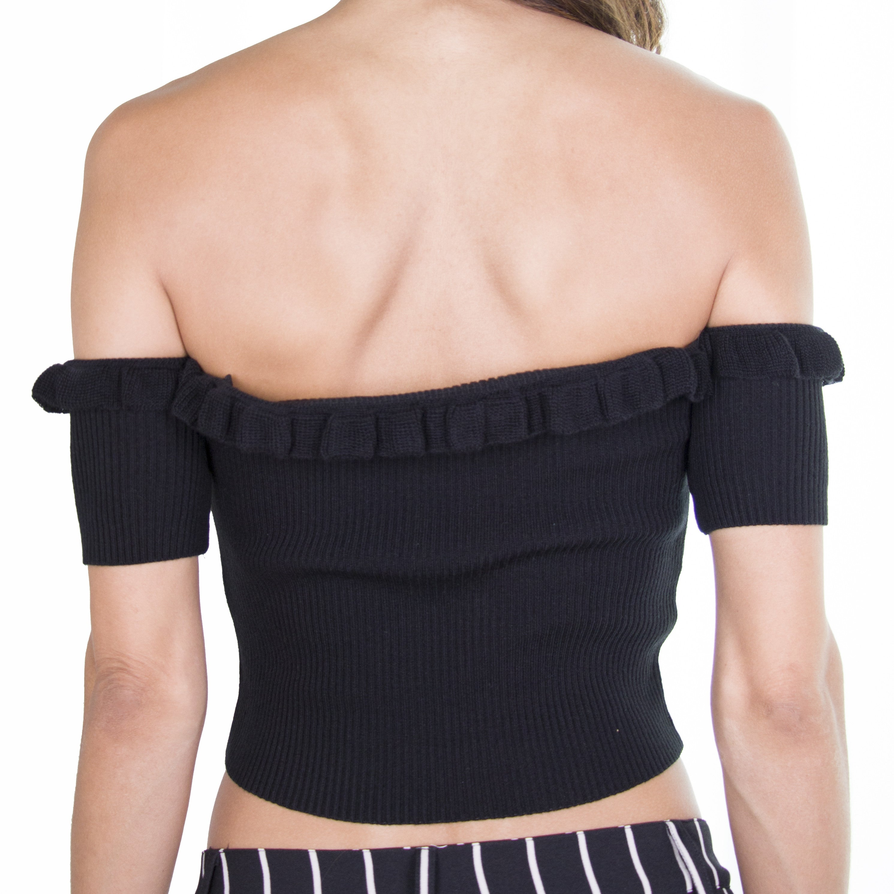 Bella Crop Top- Black | Raregal