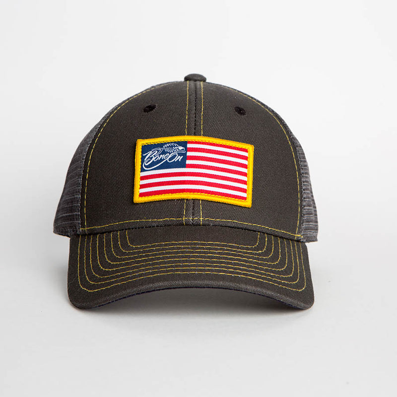 Bone On Sportswear | Bone On American Flag Hat