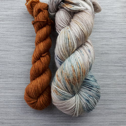 Take a Hike Sock - Patina + Spiced Pecans Set