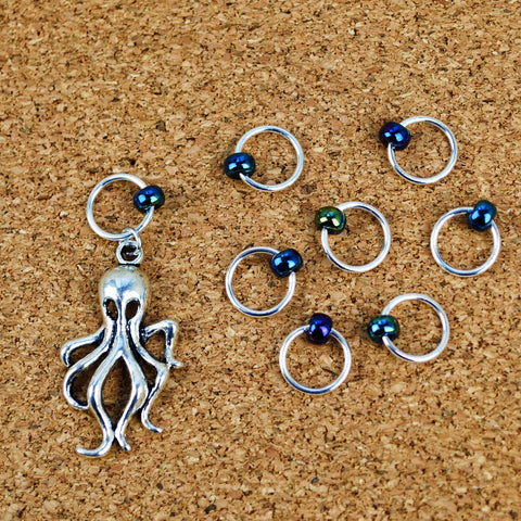 Stitch Marker Set - Octopus (large size)