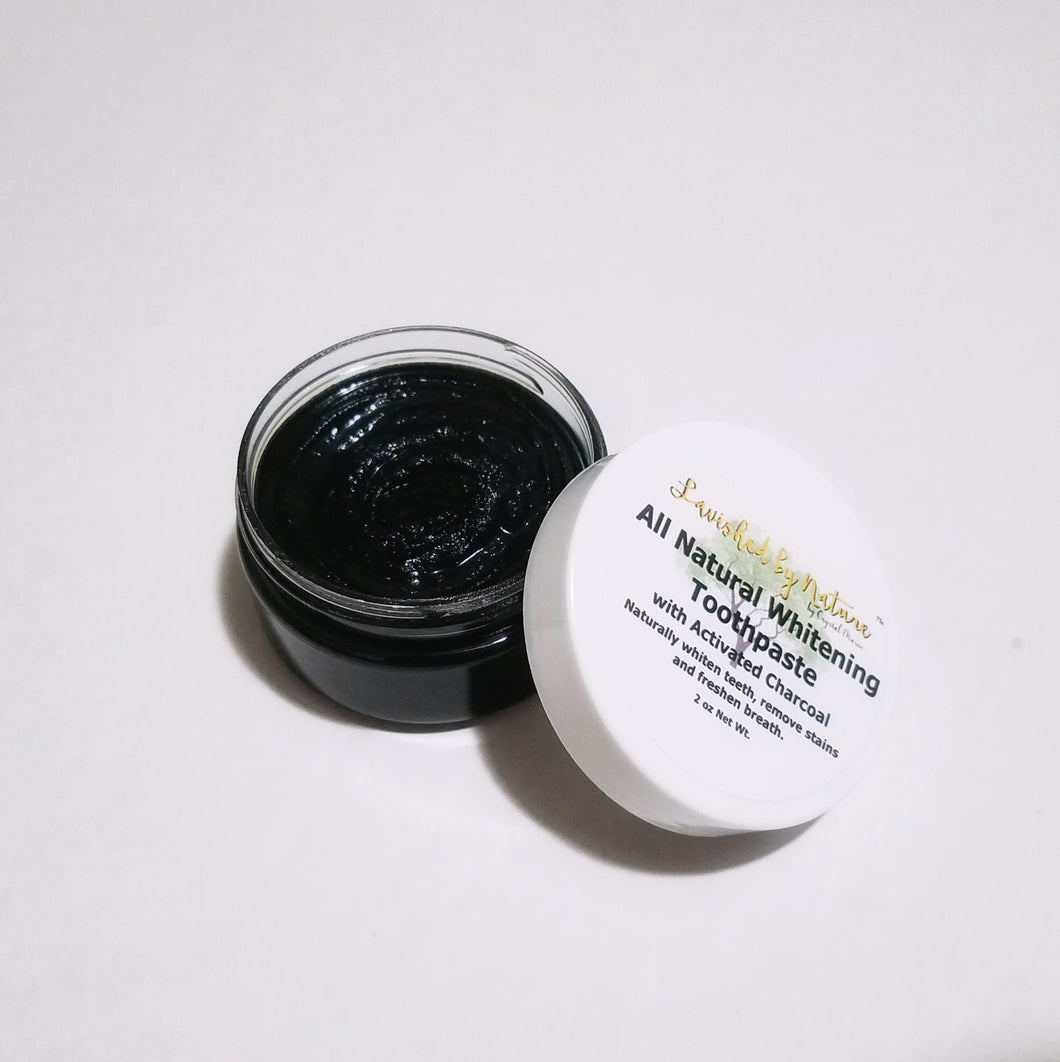 All Natural Whitening Toothpaste with Activated Charcoal