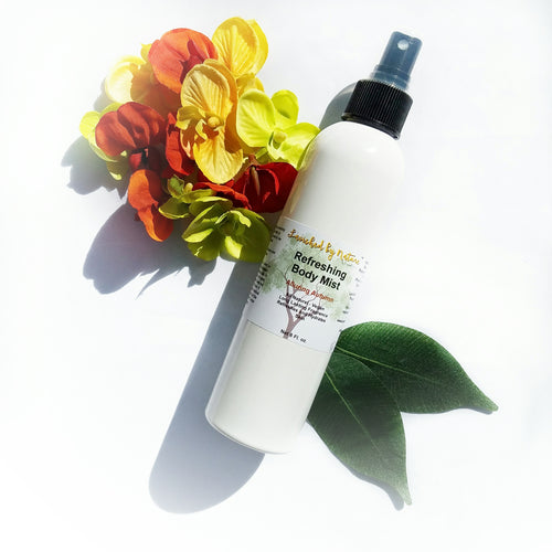 Lavished by Nature - by Crystal Marie™ - Refreshing Body Mist. Handmade, Toxin-free, All Natural, Vegan, Ingredients: Distilled Water, Witch Hazel, Polysorbate 80, Glycerin, All Natural Fragrance Oil,