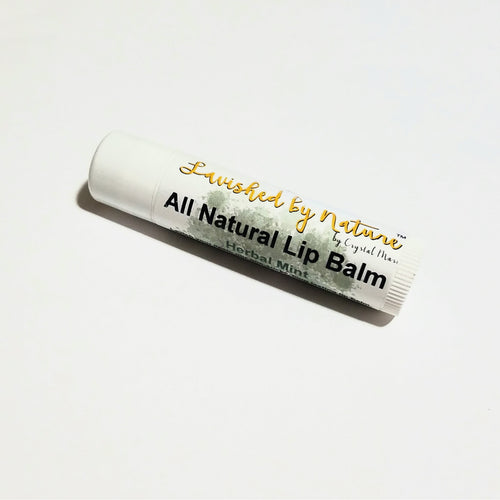 Lavished by Nature - by Crystal Marie™ - All Natural Lip Balm. Toxin-free, soybean oil, almond oil, beeswax, cocoa butter, herbal mint, vanilla