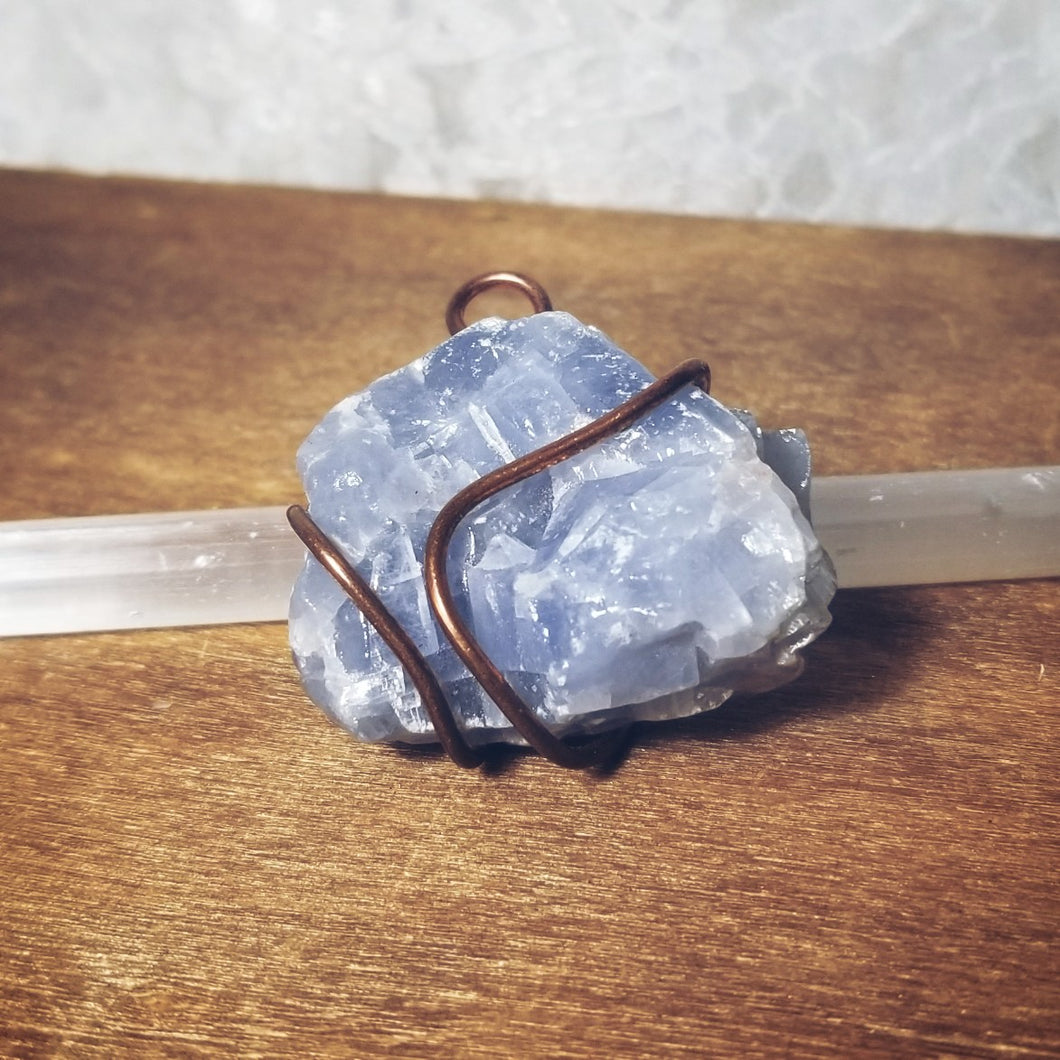 Blue Calcite Necklace