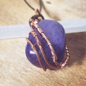 Purple Agate Neckalce