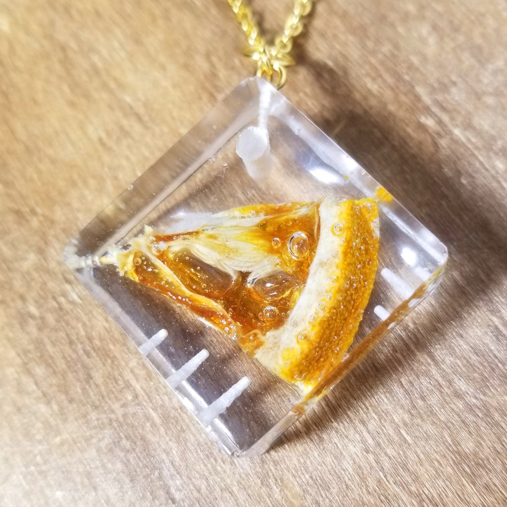 Diced&Sliced Orange Long Necklace