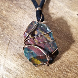 Raw Bloodstone Necklace