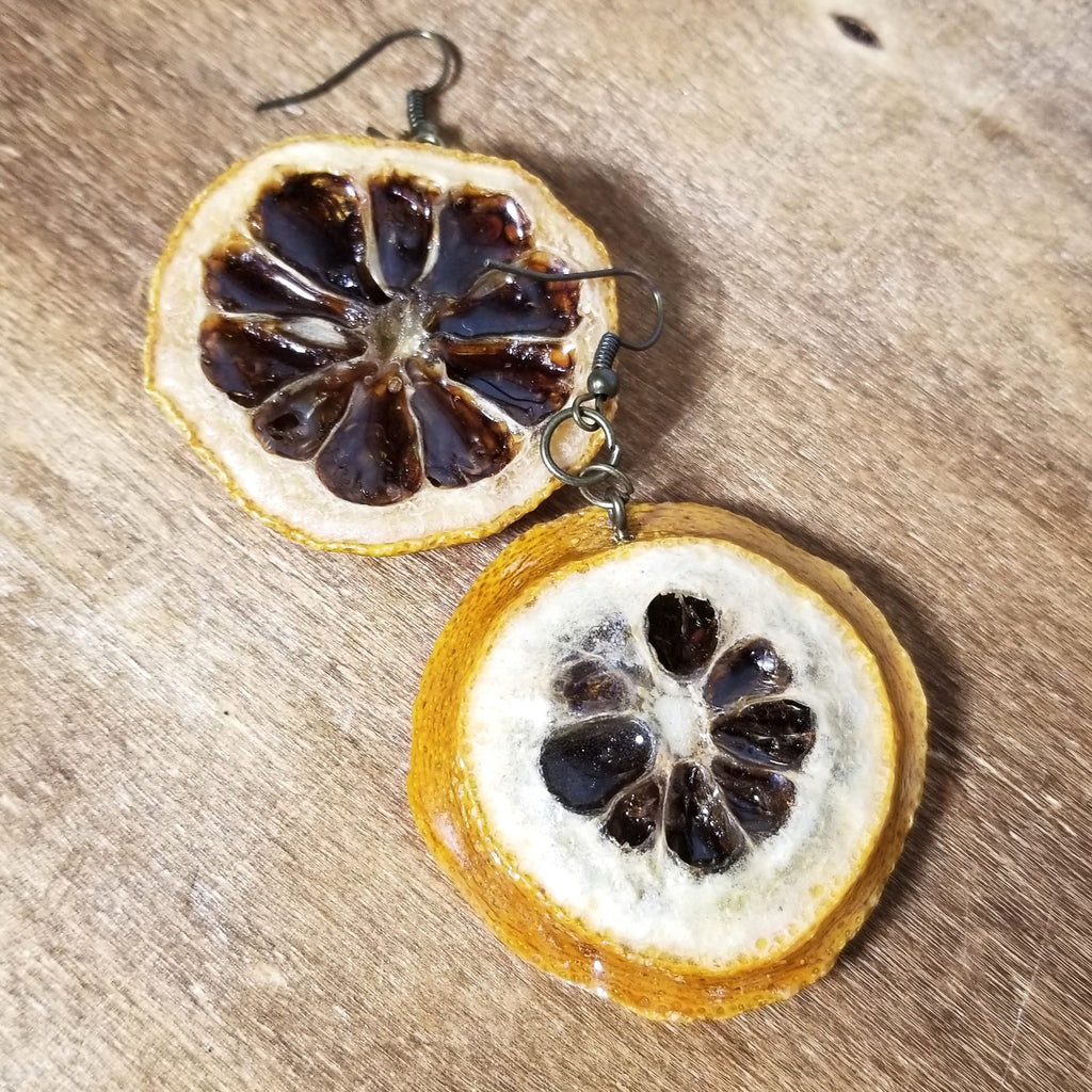 Glossed Lemon Earrings